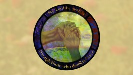 Stained glass - My Lord be praised through those who dwell in Peace